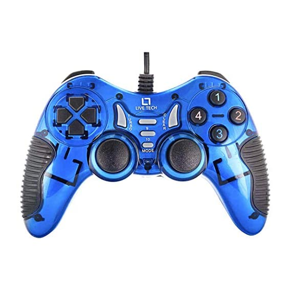 Cosmic Byte C1070T Interstellar Wired Gamepad for PC/PS3/Android support for Windows XP/7/8/10, Rubberized Texture