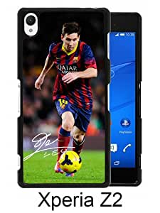 Beautiful And Unique Designed Case For Sony Xperia Z2 With Soccer Player Lionel Messi 03 black Phone Case