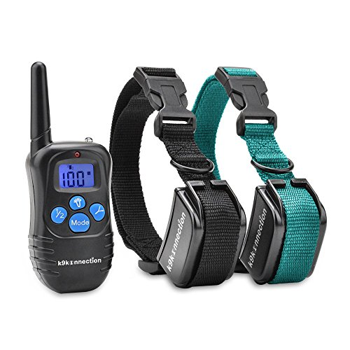 K9KONNECTION Dog Training Shock Collar with Remote | Used by Professional Trainers to Control Barking and Tricks | Rechargeable E-Collar for Small to Large Dogs 10 - 120 lbs | Beep / Vibrate / Shock