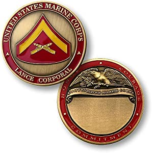 U.S. Marines Lance Corporal Engravable Challenge Coin