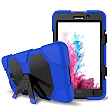 Galaxy Tab A 7.0 Case, Lanstyle Hybrid Rugged Armor Back Cover Case with Kickstand for Samsung Galaxy Tab A 7.0 (SM-T280 / SM-T285) (blue)