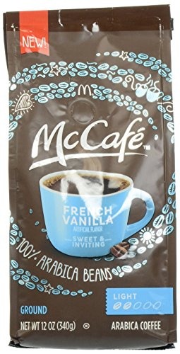 McCafe Coffee French Vanilla Ground Coffee, Light Roast, 12 Ounce