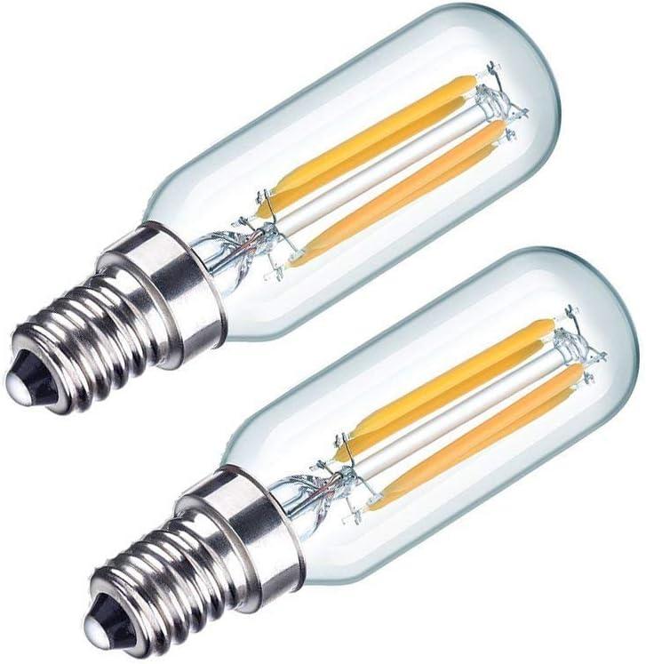 Bombilla LED, bombilla de campana extractora LED de 6W, blanco frío 6000K 40W incandescente 110-240V Tornillo Edison pequeño no regulable 2 piezas, no regulable [Clase energética A ++],Coolwhite14e,4W: Amazon.es: Hogar