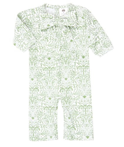 Kate Quinn Organic Long Sleeve Bow Jumpsuit, 18-24M (French Wallpaper)