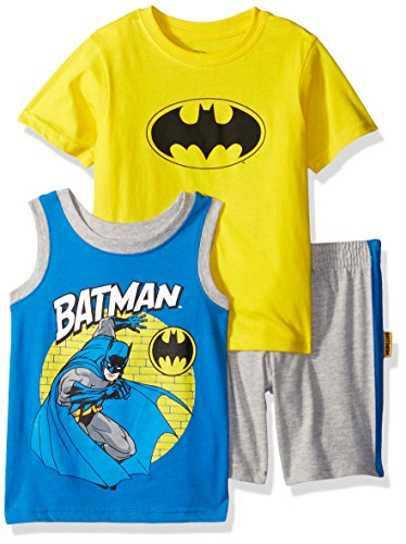 (Warner Brothers Baby Boys Batman 3 Piece Short Set, Yellow, 18M)