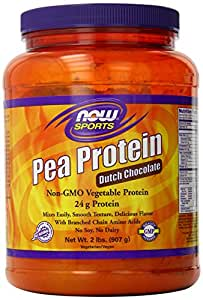 NOW Sports Pea Protein Dutch Chocolate Powder, 2-Pounds