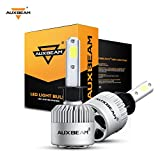 Auxbeam LED Headlights F-S2 Series H1 P145S Headlight Bulbs Bridgelux COB LED H1 P145S Headlight Conversion kit with 2 Pcs of H1 Bulbs 72W 8000lm Single Beam - 1 Year Warranty