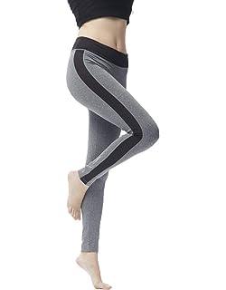 Leggings pour Femmes Mode Sport Fitness Pantalon Taille Élastique breal De  Slim Fit Pantalon De Yoga 667de3de390