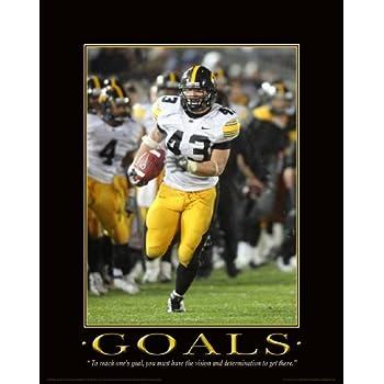 Iowa Hawkeyes Football Motivational Poster Art Kinnick Stadium Sports MVP316