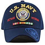 THE HAT DEPOT Official Licensed U.S. Military Vietnam Veteran Ribbon Cap (Navy-U.S. Navy)