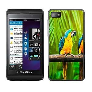 All Phone Most Case / Oferta Especial Duro Teléfono Inteligente PC Cáscara Funda Cubierta de proteccion Caso / Hard Case Blackberry Z10 // Macaw Rainbow Parrot