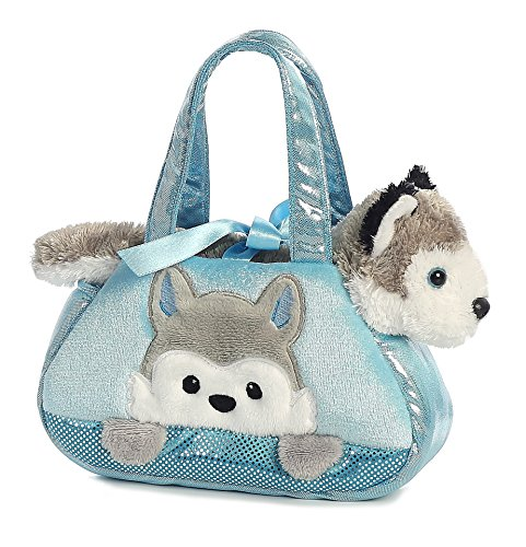 Aurora World Fancy Pals Pet Carrier, Peek-A-Boo Husky