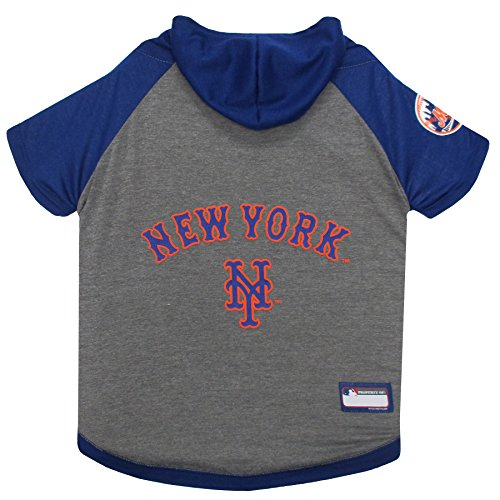 - MLB Hoodie for Dogs & Cats - New York Mets Dog Hooded T-Shirt, Medium. - MLB Team Color Hoody
