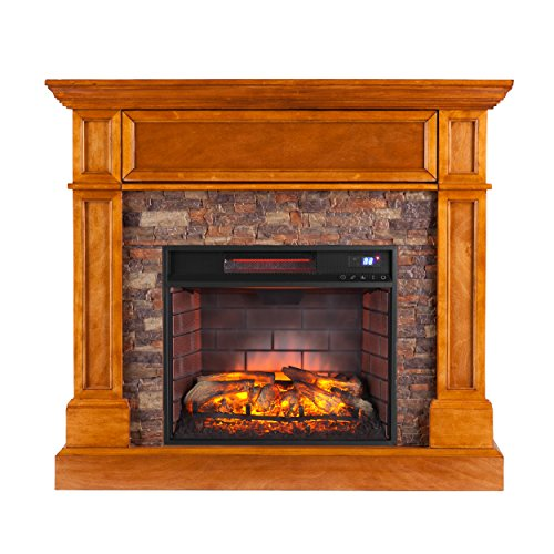 Southern Enterprises Rosedale Corner Infrared Electric Media Fireplace 45