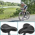 Qomolo-Sella-per-Bici-da-Passeggio-Sella-per-Bicicletta-Comoda-con-Memory-Foam-Cuscino-per-Sedile-Traspirante-e-Antiurto-con-Cover-Impermeabile-per-Bici-da-Strada-Mountain-Bike-Bici-Pieghevole