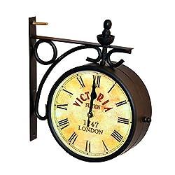 Ectoria EC12-014.6 Victoria Station Clock 6 -Vintage Style Wall Hanging Clock