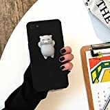 Boddenly Phone Case Squishy 3D Cute Cloud Silicone Back Soft Case Cover for iPhone 6 Plus/6s Plus 5.5inch And Phone 6/6s 4.7inch (5.5inch 6 Plus, Black)