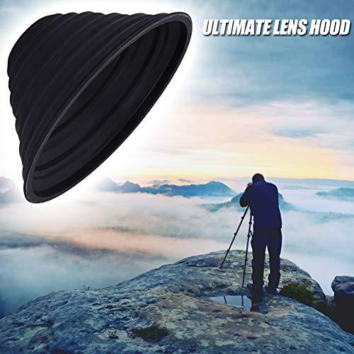 Innersetting Anti-Glas Ultimative Kamera-Gegenlichtblende Antireflex-Silikon-Gegenlichtblende