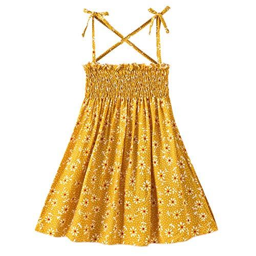 CHOSERL Peuter Baby Meisje Jurken Mouwloze Bandjes Bloemen Strandjurk Prinses Sundress Zomer Kleding Outfits