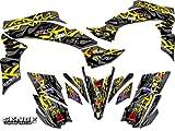 Senge Graphics 2003-2008 Suzuki LTZ 400, Wildfire Yellow Graphics Kit