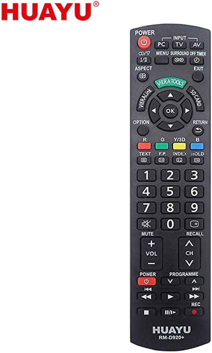Richgv Replacement Remote Control Compatible for Smart LCD LED TVs ,Without Setup PANASONIC