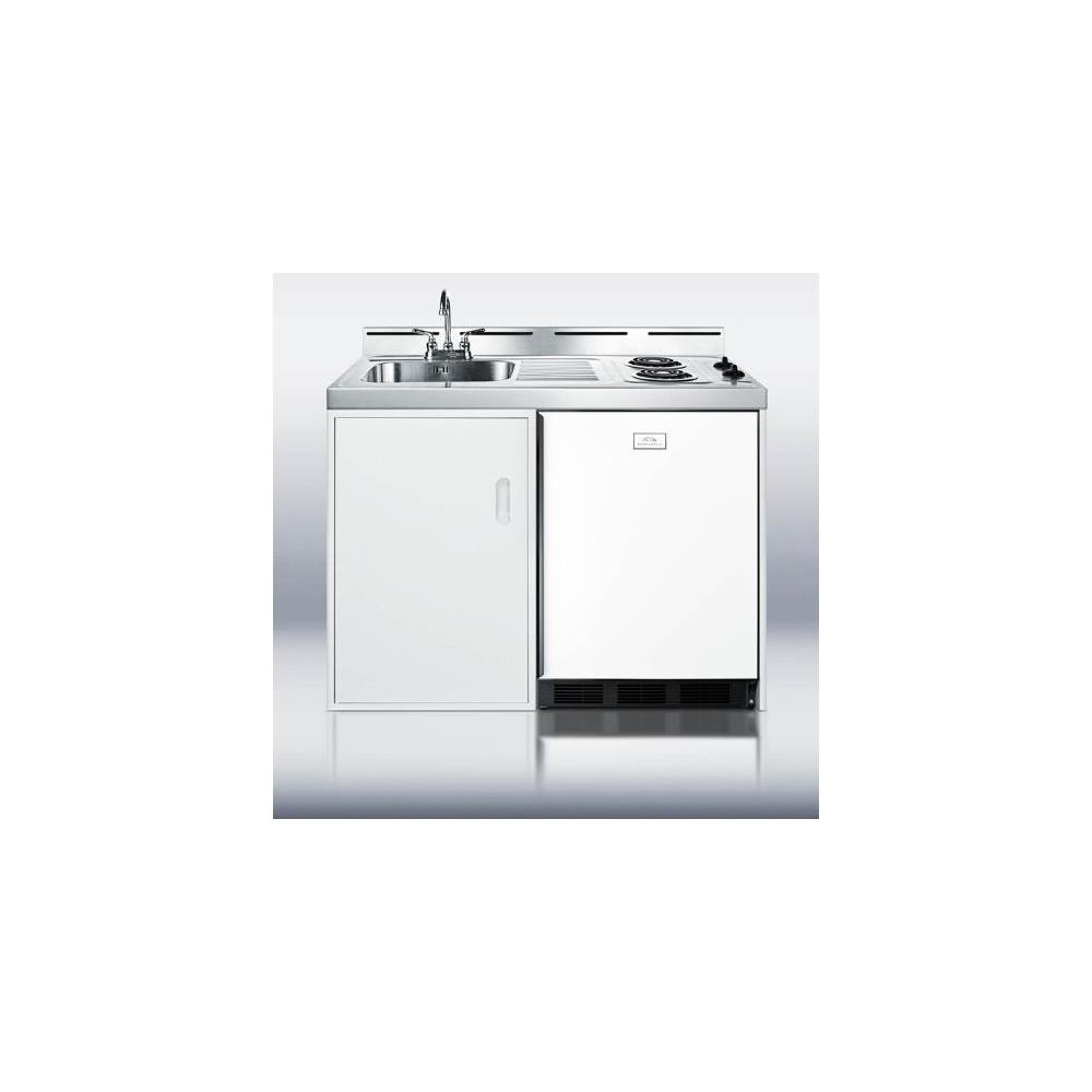 Summit C48el Kitchen All In One Combination Unit White