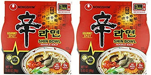 Nongshim Shin Big Bowl Noodle kLute Soup, Gourmet Spicy, 3.03 Ounce (Pack of 24) bnvwG - Big Bowl Noodles