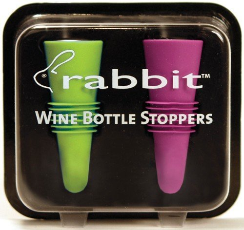Metrokane-6119-Rabbit-Wine-Bottle-Stoppers-2-Pack-in-Multi-Color-Colors-Selected-Randomly