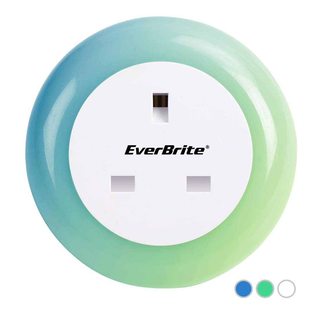 EverBrite Led Plug in Night Light for Children Night Lamp with Dusk to Dawn Touch Sensor Socket Indicator Lighting Multi Colors for Bedroom Bathroom Nursery Hallway LTD