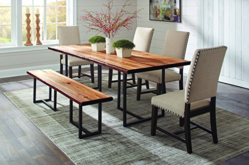 Suthers Live Edge Dining Table Natural Honey and Antique ()