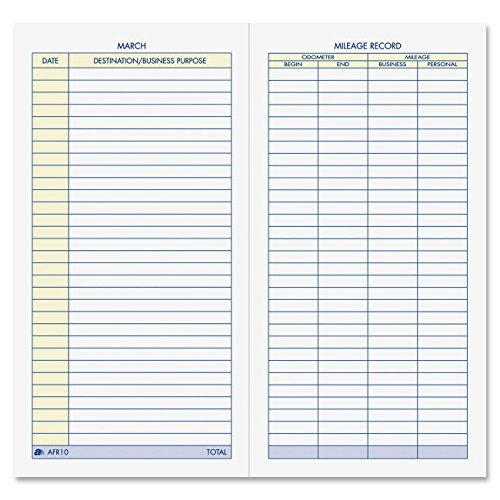Adams Vehicle Mileage Journal, , 3.25 x 6.25 Inches, White, Pack Of 2