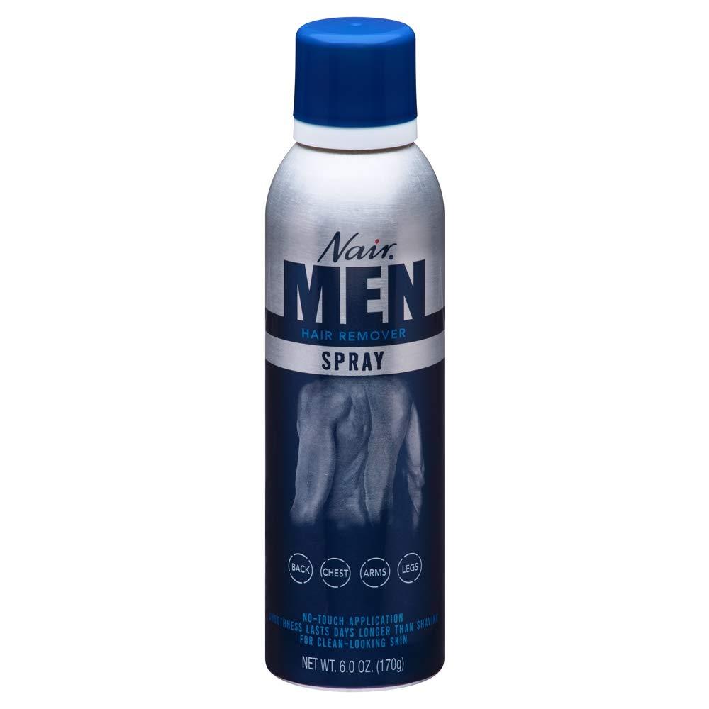 Nair For Men Hair Remover Spray 6 oz (Pack of 5)