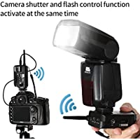 Pixel 2pcs Opas Wireless Shutter Release Remote Control 1/320s Flash Trigger Transceiver-professional for Canon DSLR Digital Camera