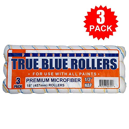True Blue Professional Paint Roller Covers, Best for All Types of Paint (3, 18