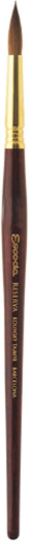 Pure Kolinsky-Tajmyr Speedball Art Products 1212-1 Escoda Reserva Series Artist Watercolor Short Handle Round Paint Brush Size 1