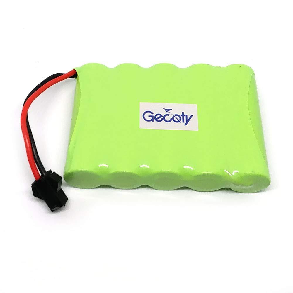 per giocattoli di telecomando Gecoty/® Pacco batteria Ni-MH ricaricabile da 6 V 2400 mAh utensili elettrici illuminazione spina SM 2P dispositivi di sicurezza