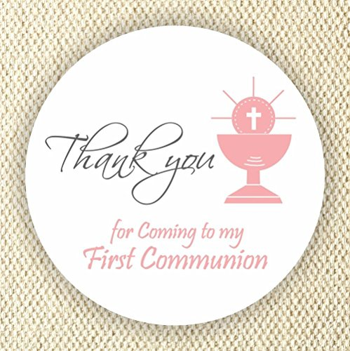 Communion Stickers - Girls Communion Stickers - Communion Favor Labels - Chalice Stickers - Set of 40 stickers from Philly Art & Crafts