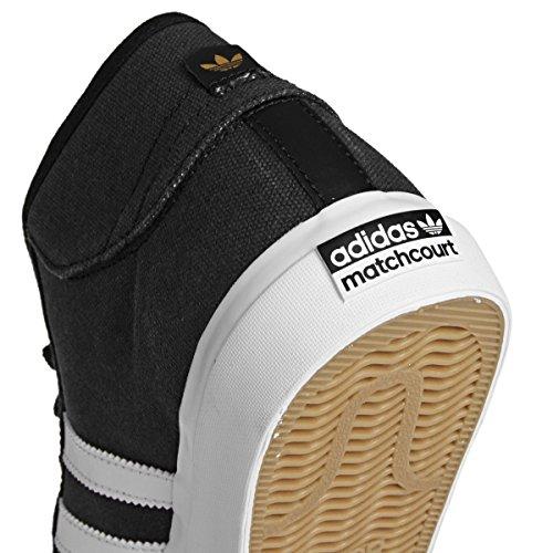 adidas Herren Matchcourt Mid Skateboardschuhe Schwarz