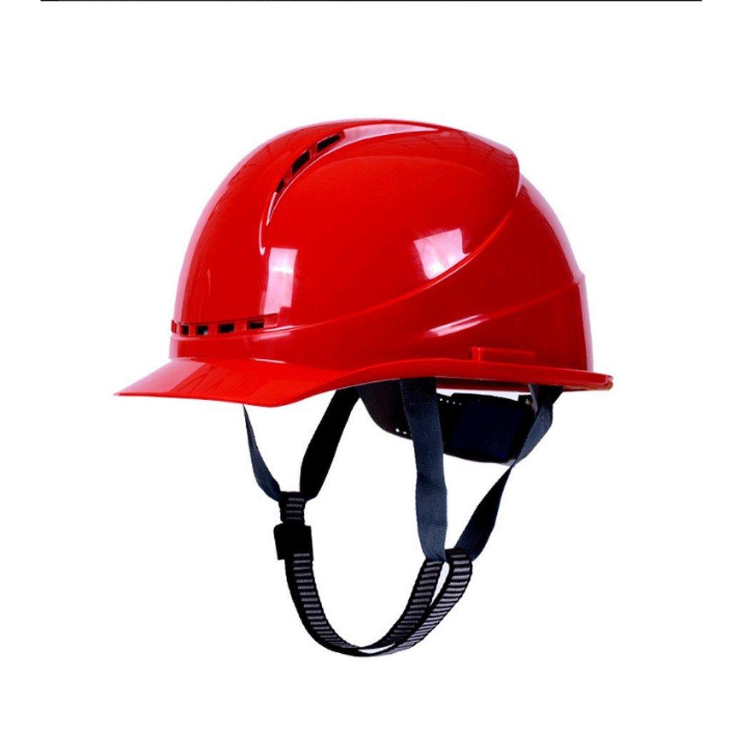 GXQ Casque Casques de sécurité de Construction de Haute résistance Bouchons de sécurité FRP Respirant Ouragan Décompression Réglage de la Taille du Tampon (Couleur : Bleu)
