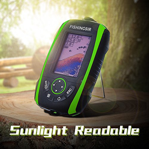 FISHINGSIR Wireless Portable Fish Finder Depth Finder Fishfinder with Sonar Sensor Transducer and 100M LCD colors Display by FISHINGSIR (Image #5)