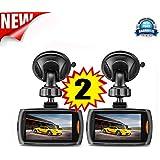 Becoler 2 PCS Car 1080P 2.2 Inch Full HD DVR Vehicle Camera Dash Cam Video with G-sensor Night Vision