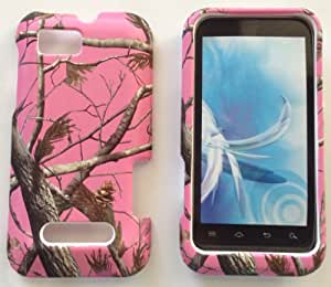 2D Pink Camo Realtree Motorola Defy XT XT556 / XT557 Case Cover Phone Snap on Cover Cases Protector Faceplates
