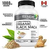 Organic Black MACA Dietary Supplement Pills- Vegan, Non GMO Certified - 1000mg of