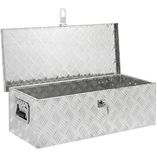 Buy Best Choice Products 30in Aluminum Camper Tool Box w/Lock and 2 Keys - Silver