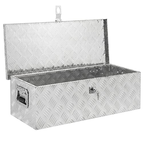 - Best Choice Products 30in Aluminum Camper Tool Box w/ Lock and 2 Keys - Silver