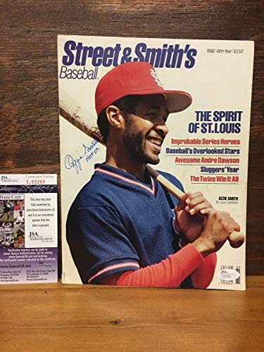 - Ozzie Smith Autographed Signed Autograph 1988 Street & Smiths Magazine JSA Authentic Certificate & Hologram #L93269