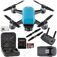 DJI Spark Quadcopter (Sky Blue) + DJI Spark Remote Starter Bundle