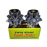 Vintage Twin Stars Candlestick Holders