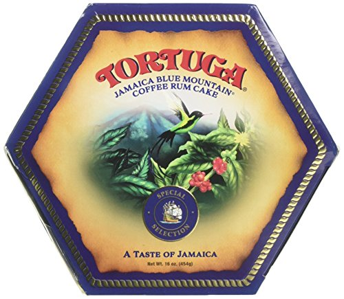 - TORTUGA Caribbean Blue Mountain Rum Cake - 16 oz. - The Perfect Premium Gourmet Gift