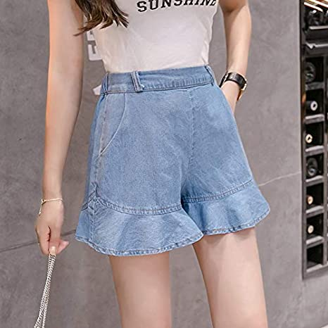 560b1c11e9f Image Unavailable. Image not available for. Color  Blue Stones Summer Plus  Size Women s Jeans Shorts Fashion ...